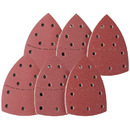Muka 50 Pcs Assorted Mouse Detail Sander Sandpaper Hook and Loop  Sanding Paper Fit for Oscillating Multi-Tool