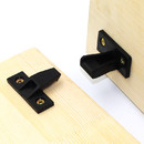 Muka Plastic Push-On Fittings Furniture Flat Connector Steady Rest for Door Panels, Small