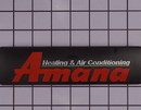 Goodman 0161R00087 Nameplate, Amana Logo Replaces 0161R00010P