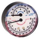 Honeywell TD-090 Tridicator Pressure & Temperature Gauge Short Probe 75 Psi Max, 60-320F 1/4