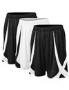 TopTie 3 Pack Men's Basketball Shorts, Flag football Shorts No Pockets, MMA Pro Shorts