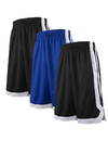 TopTie 3 Pack 2-Tone Basketball Shorts For Men with Pockets, Pocket Training Shorts