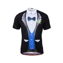 TopTie Biking Cycling Jersey, Groom Tuxedo Print