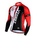 TopTie Men's Race Cut Long-Sleeve Biking Cycling Jersey