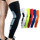 TOPTIE 1 PC Compression Full Leg Sleeves For Men and Women, Leg Sleeves For Sports, Running, Basketball, Shin Splints