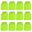 TopTie Mesh Sports Practice Team Jerseys - Training Vests (12-Pack)