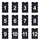 TopTie Sets of 12 (#1-12, 13-24) Numbered Training Vest, Soccer Pinnies