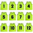 TopTie Numbered / Blank Scrimmage Team Practice Mesh Jerseys Vests Pinnies (12-Pack)