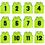 TOPTIE Number 1 to 24 Basketball Scrimmage Team Jerseys Nylon Mesh Lightweight Soccer Training Vests