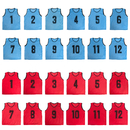 TopTie Pack of 24 Mesh Sports Practice Team Event Vest - Pinnies