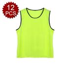 TopTie Children Mesh Sports Practice Team Jerseys - Pinnies (12-Pack)