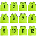 TopTie Children Numbered Practice Vest - Pinnies, One Dozen