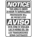 """Red Rooster 23243 Bilingual """"Notice"""" Sign, 14"""" x 10"""" Plastic, Black and White"""