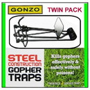 Red Rooster 88150 Gonzo Gopher Trap - Twin Pack