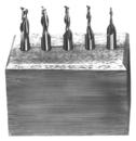 Michigan Drill 1/8-3/8 4 Flute D/E Set Tin Coat End (241At)