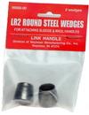 Link Handles 64142 Lr2 Round Steel Wedge Retail Pack, 3/4