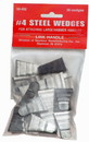 Link Handles 64146 Corrugated Steel Wedges For Large Hammers, No. 4, 3/4