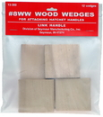 Link Handles 64157 No. 8Ww Wood Wedges For Hatchets, 12 Wedges Per Pack