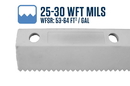 Midwest Rake 79865 18 Easy Squeegee with 25-30 WFT Mils Blade