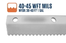 Midwest Rake 79868 18 Easy Squeegee with 40-45 WFT Mils Blade