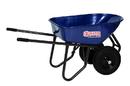 Midwest Rake 85733 Seymour Excavator 6 Cu. Ft. Wheelbarrow, Steel Tray & Handles - Dual Flat-Free Knobby Tires
