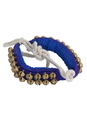 Mid-East Pad of 2-Row Round Ankle Bells - Pair - Blue