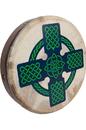 Roosebeck BTN8R-CC Roosebeck Tunable Sheesham Bodhran Cross-Bar 18-by-3.5-Inch - Celtic Cross