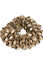 Mid-East Clam Bells, Brass, Plain, 100 Count