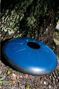 Idiopan Dominus 14-Inch Tunable Steel Tongue Drum with Pickups - Oceanic Blue, DPD14-OBE