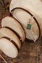DOBANI FD14 DOBANI Pretuned Goatskin Head Wood Frame Drum w/ Beater 14