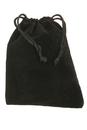 Mid-East Velvet Bag with draw string, Black