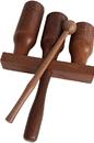 DOBANI WAGO DOBANI 3-bell Wooden Agogo w/ Mallet