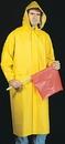 Mutual Industries .35 Mm Pvc/Polyester Raincoat W/Detachable Hood