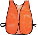 Mutual Industries 16300-1 Orange Soft Mesh Safety Vest - Plain