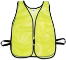 Mutual Industries 16304-1 Lime Soft Mesh Safety Vest - Plain