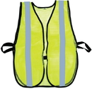 Mutual Industries 16304-53-1000 Lime Soft Mesh Safety Vest - 1&Quot; Silver Reflective