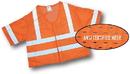 Mutual Industries Ansi Class 3 Orange Mesh Vest W/Silver Reflective