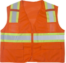 Mutual Industries Ansi Class 2 Mesh Orange Surveyor Vest