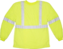 Mutual Industries Ansi Class 3 Long Sleeve Lime Tee Shirt