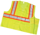 Mutual Industries Ansi Class 2 Lime Mesh Tearaway With Pockets