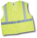 Mutual Industries Ansi Class 2 Lime Mesh Non Durable Flame Retardant Vest