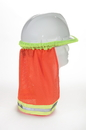 Mutual Industries 65500-45-100 Ansi Orange Mesh Hard Hat Neck Shade W/Reflective