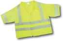 Mutual Industries Ansi Class 3 Lime Solid Durable Flame Retardant Vest