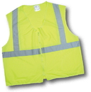 Mutual Industries Ansi Class 2 Lime Solid Non Durable Flame Retardant Vest
