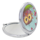 GOGO Craft Compact Mirror Metal Folding Magnify For Girl, Cute Pattern