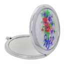 GOGO Cosmetic Makeup Mirror 2X 1X Magnifying For Woman, Flowers Pattern