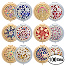 GOGO Assorted Makeup Compact Portable Hand Mirror Round Wholesale 50 Packs