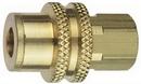 Schrader Bridgeport C2RB Brass Coupler, 1/4 Nptf, Hd Shell