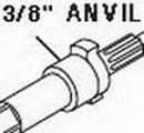 Chicago Pneumatic Shank Anvil 3/8