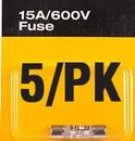 Fluke FL871223 Fuse, Lot Qty 5, Fiber 15A 600V Fast(5Pk)